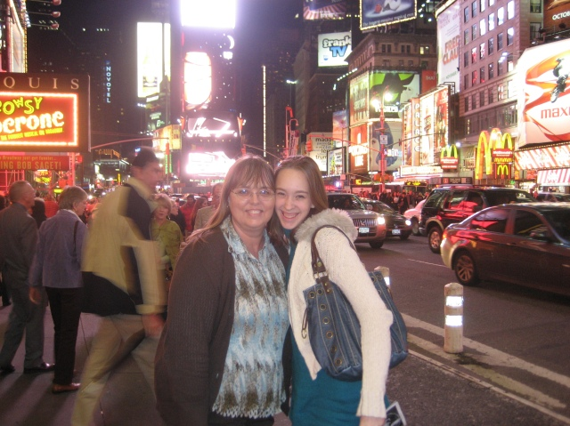 Mom and I in New York. October 2007.